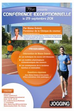Conférence Blaise Dubois Running Clinic Xrun Jogging International