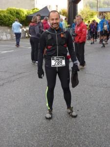 Ruello Rubino au départ de du Trail du Massif des Brasses