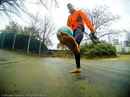 Sergio S., barefooteur, fan de TrailBall