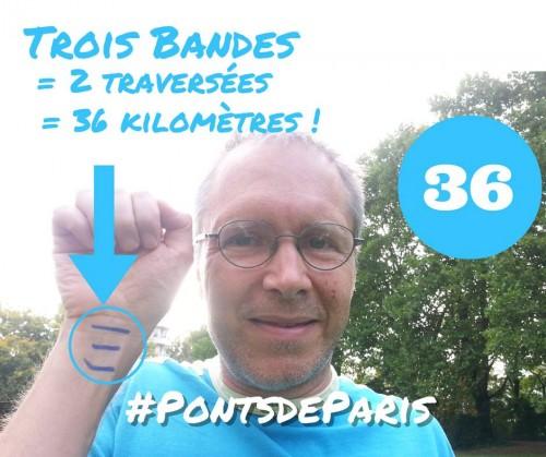 Trois bandes = deux traversées de Paris - Photo Elisabeth Harberts