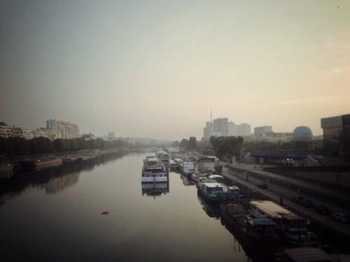 Paris, Pont du Garigliano, 07:30 07/09/2014 - Florent Marichez - Photo